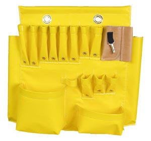 Warren Heim - Aerial Tool Apron Yellow Vinyl 18 Pocket