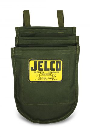 Jelco - Green Canvas Bolt Bag (2 Pockets) 8 x 10 x 4