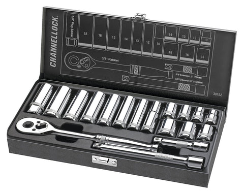 Channellock - 18pc 3/8 Drive Socket Set