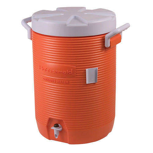 Rubbermaid - 5-Gal Cooler Orange/White