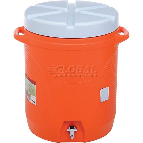Rubbermaid - 10-GAL Cooler Orange/White