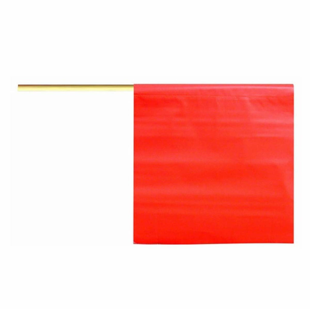 Dicke Safety - Orange Vinyl Flag