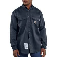 Carhartt 6 oz. FR Twill 88/12 8.7 ATPV Button Up LS Work Shirt (2 Colors)
