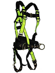 Fall Safe - No tangle construction harness w/fixed back pad
