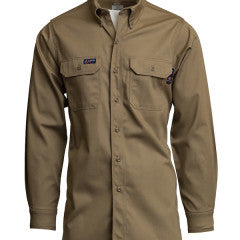 Lapco 7oz FR Uniform Shirt 100% Cotton 8.7cal HRC2