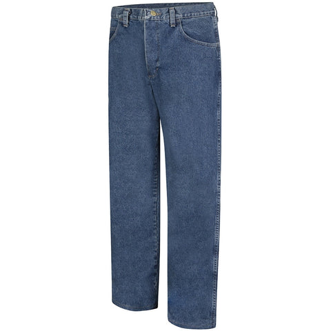 Bulwark Mens Stone Washed FR Loose Fit Jean