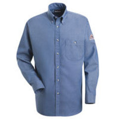 Bulwark FR Denim Dress Shirt , Light Blue