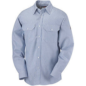 Bulwark FR Striped Uniform Shirt ( White/Blue )