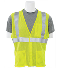 ERB Safety - Class 2 FR ASTM 1506 ATPV-5.4 Traffic Vest Lime Green