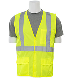 ERB Safety - Class 2 Flame Retardant Traffic Vest Lime Green