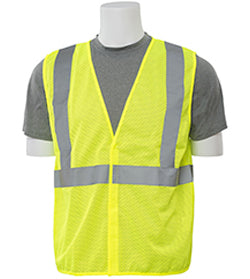 ERB Safety - Class 2 Mesh Lime Vest