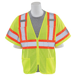 ERB Safety - Class 3 Mesh Vest Lime