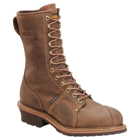 Carolina Shoe Co. - 10'' Waterproof Lineman Boot Brown