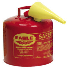 UI-50-FS 5gal Red Gas Can w/Funnel Eagle