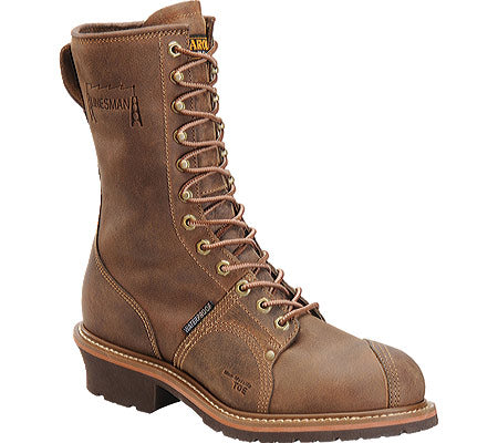 Carolina Shoe Co. - 10'' Lineman Boot Brown , Waterproof w/Composite Toe