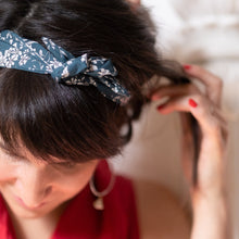 Teal Florals Midi Wire Headband