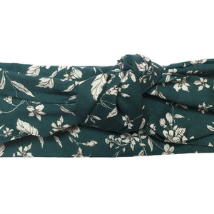 "Limited Edition ""Teal Florals"" Midi Wire-Framed Headband"