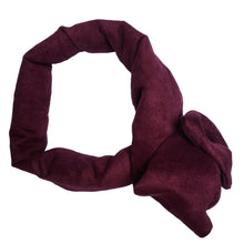 """Merlot"" Vegan Suede Maxi Wire-Framed Headband"