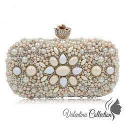 Stunning Cocktail Clutch Bag Nude Color