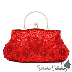 Red Sparkling Evening Clutch Bag