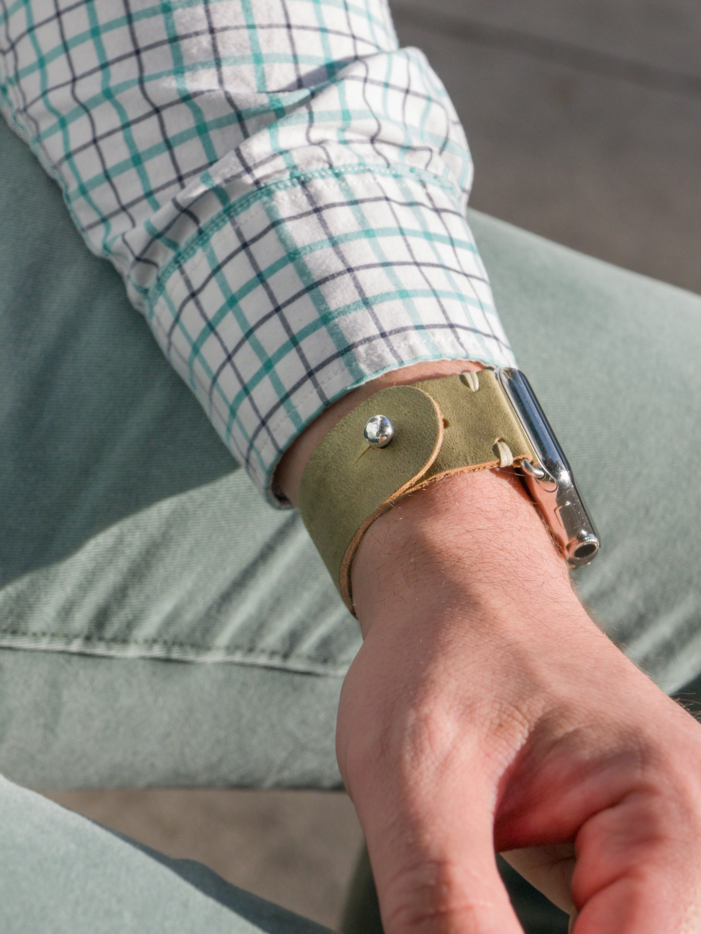 The Button Stud Apple Watch Band