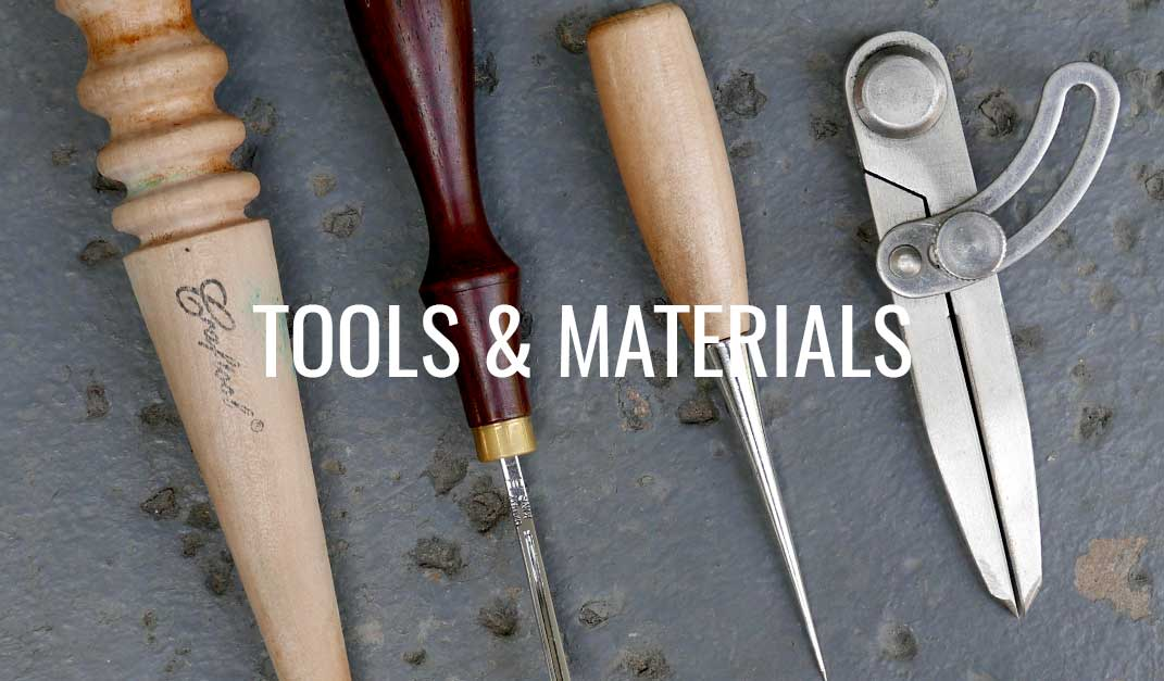 leather tools and materials