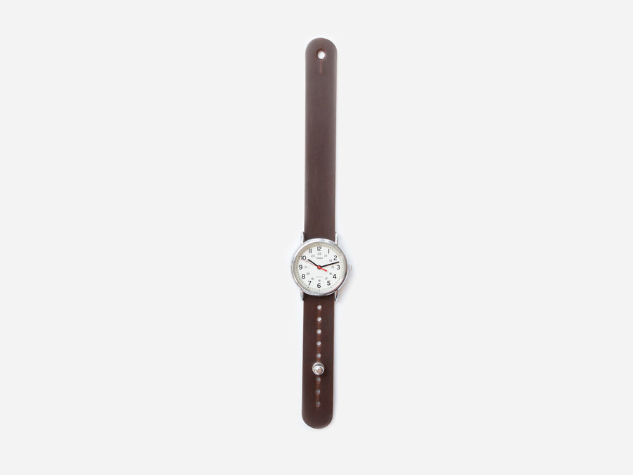 Brown Chromexcel Pass-Through Watch Band