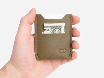 The Grant Wallet - Olive Bridle Wickett and Craig