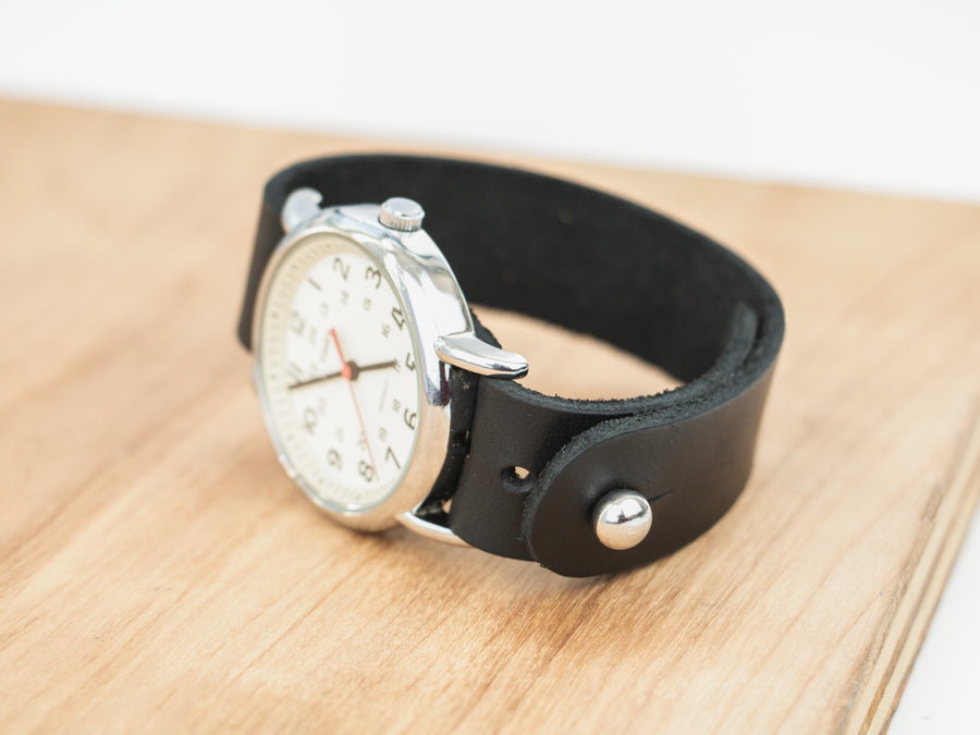 Black York Pass-Through Watch Band