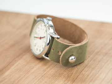 Moss Green Pass-Through Watch Band