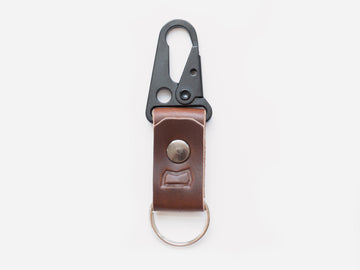 The Malcolm Keychain in Brown Horween Chromexcel