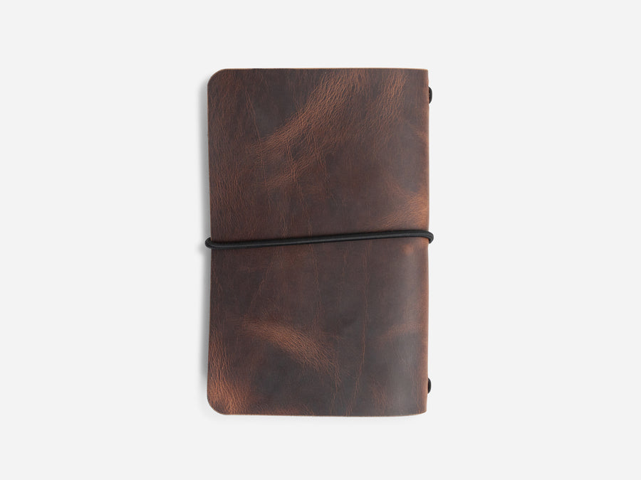 Leather Notebook Cover in Autumn Harvest