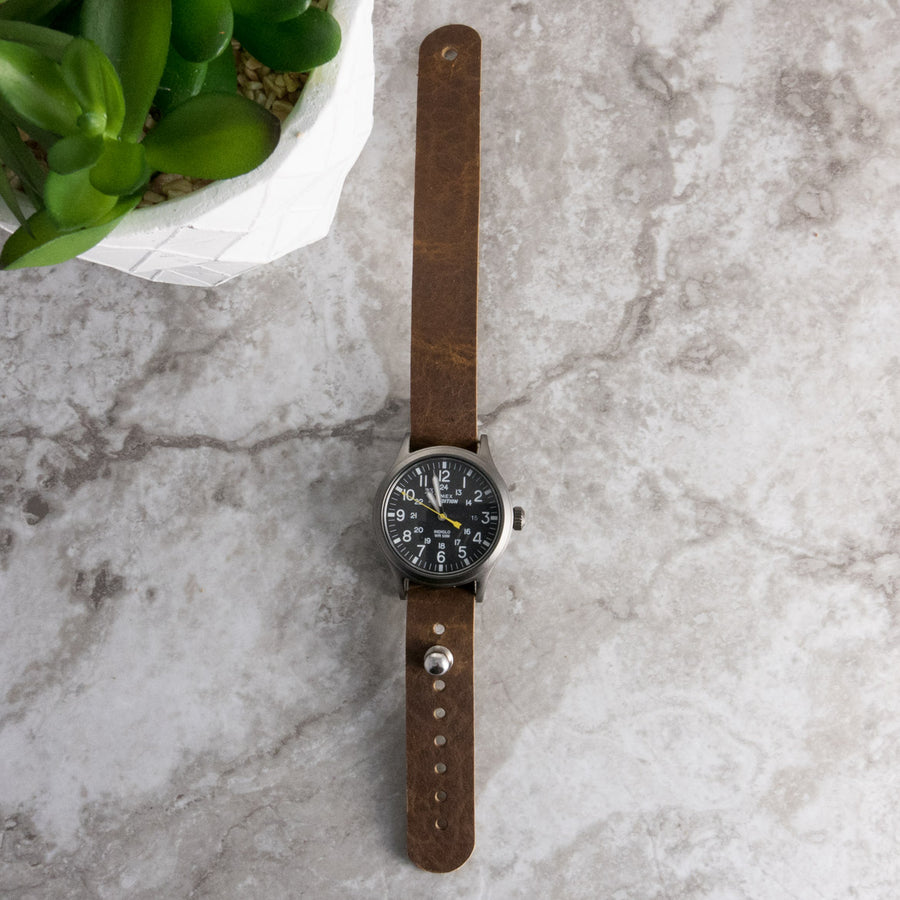Walnut Bison Pass-Through Watch Band