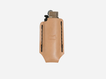 Leather Lighter Case Natural Vegetable Tan