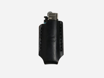 Leather Lighter Case in Black Horween