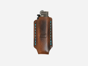 Leather Lighter Case in Autumn Harvest