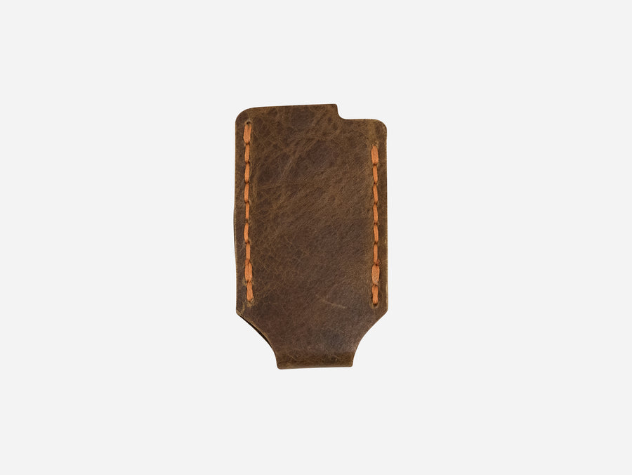 Leather Lighter Case in Whiskey Buffalo