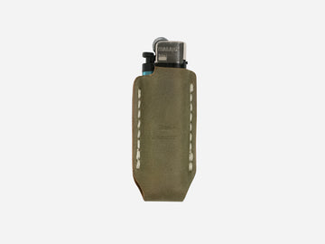 Leather Lighter Case in Moss Green