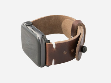 Stone Brown Horween Chromexcel® Apple Watch band