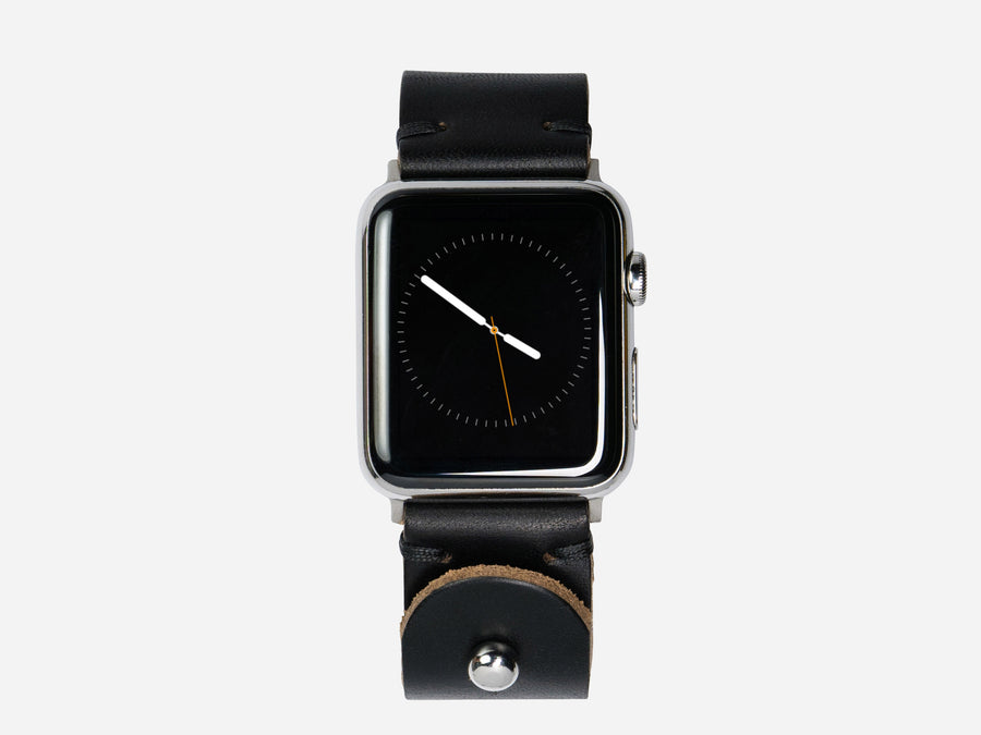 Apple Watch Band - Black Horween Chromexcel