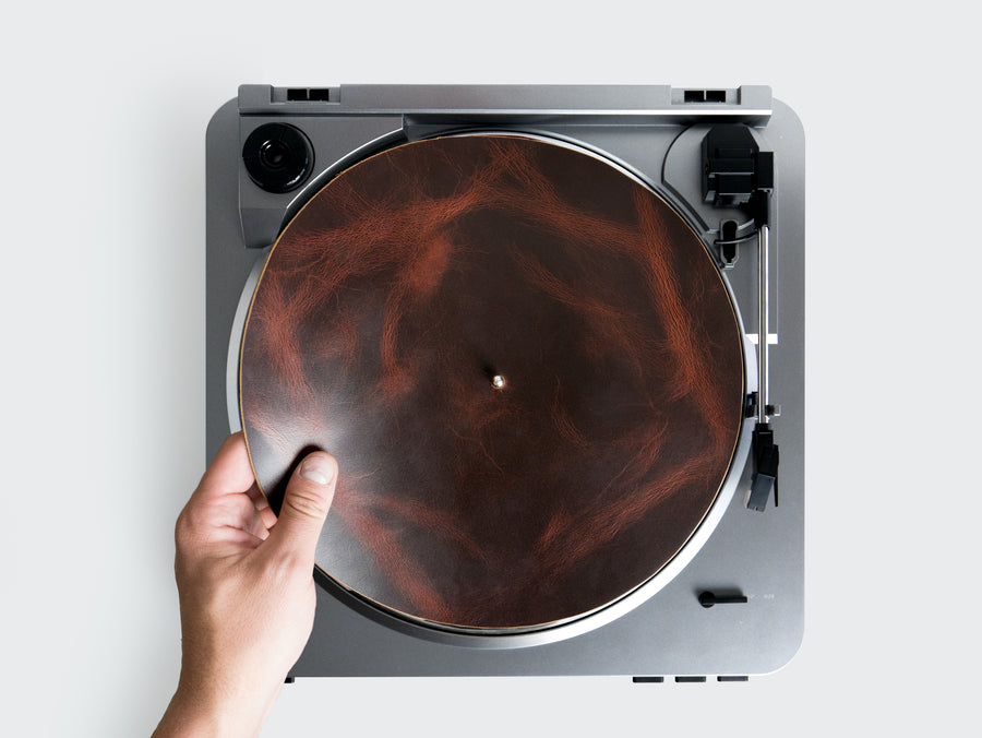 Leather Turntable Mat in Autumn Harvest