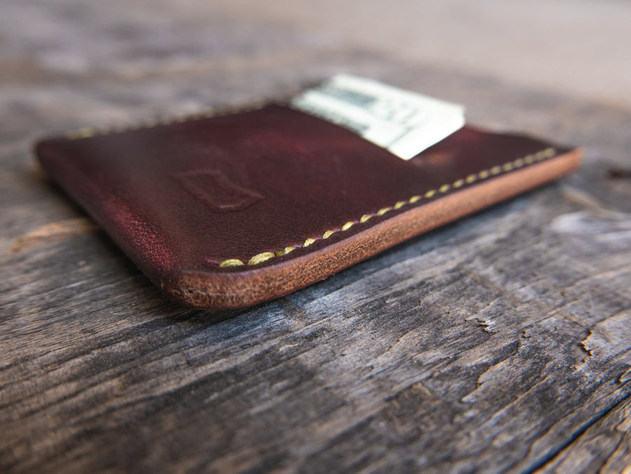 The Grant Wallet - Burgundy Horween Chromexcel
