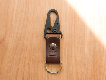 Malcolm Keychain Brown Horween Chromexcel (Samples & Seconds)