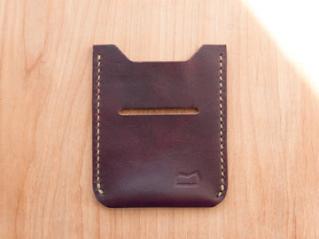 The Grant Wallet - Burgundy Horween Chromexcel (Sample)