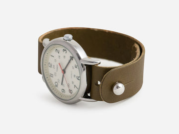 Olive Bridle Pass-Through Watch Band