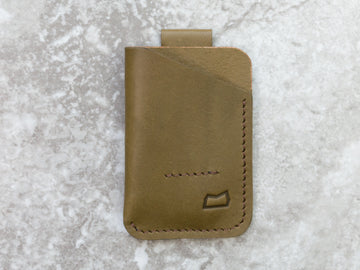 The Anderson Wallet - Olive English Bridle (Ready to Ship)