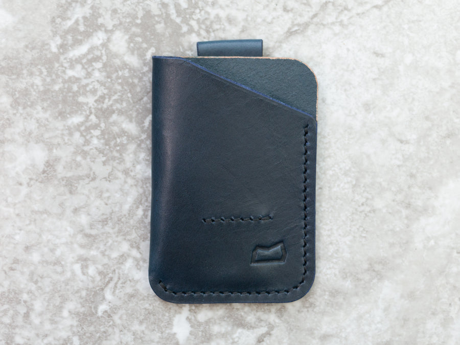 The Anderson Wallet - Navy English Bridle (Ready to Ship)