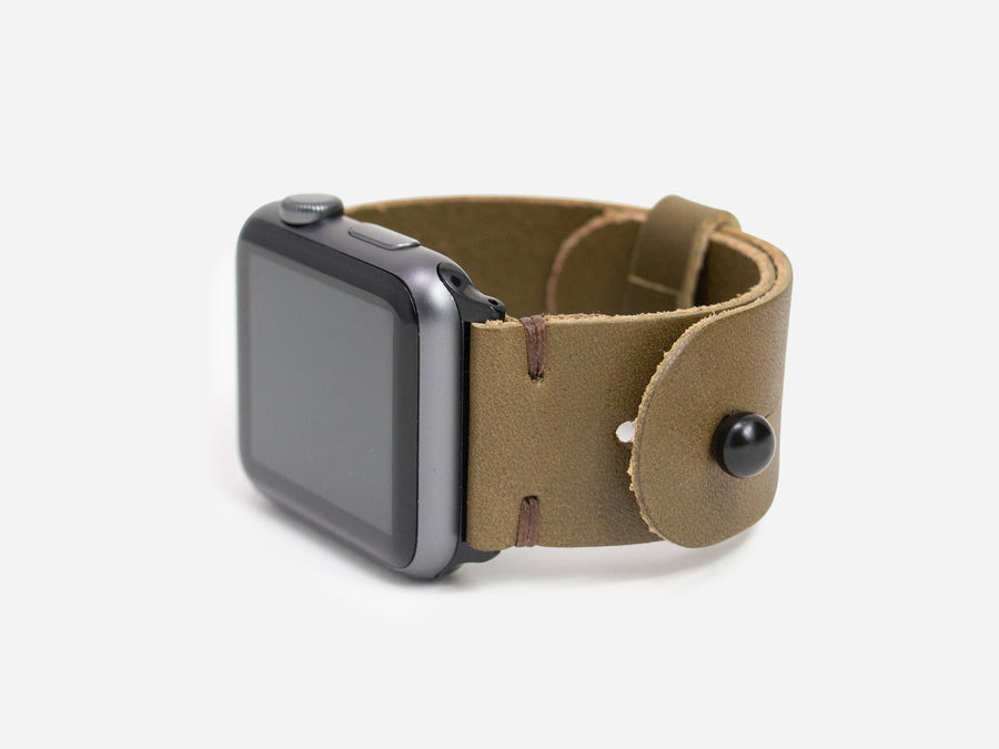 Apple Watch Band - Olive Bridle Wickett and Craig