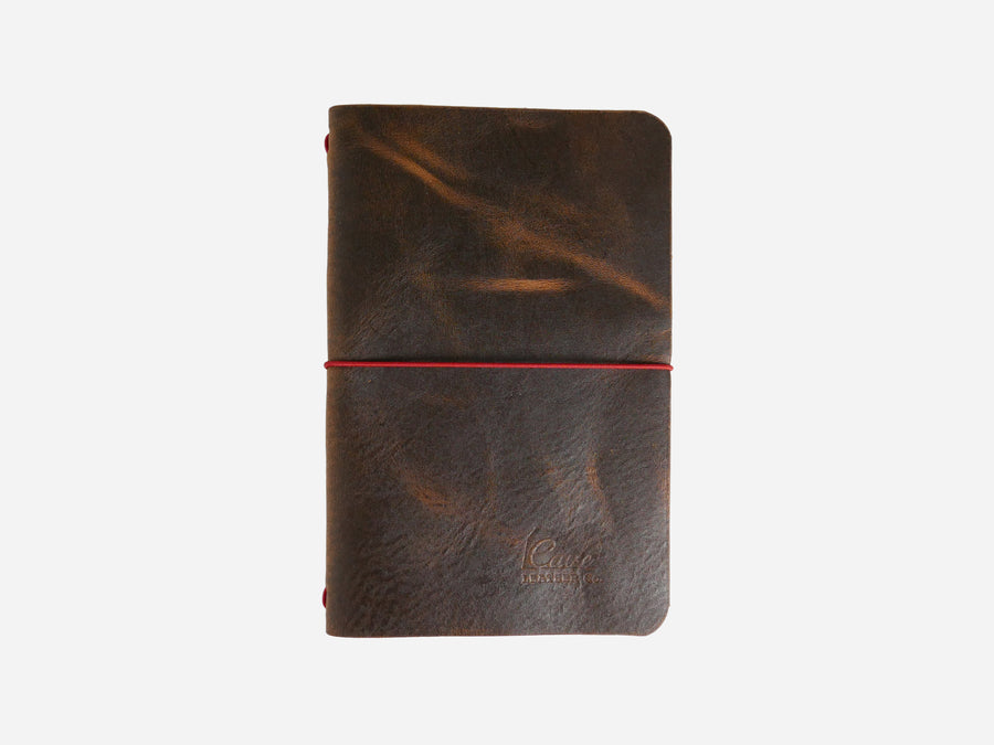 Leather Notebook Cover in Wheat Harvest