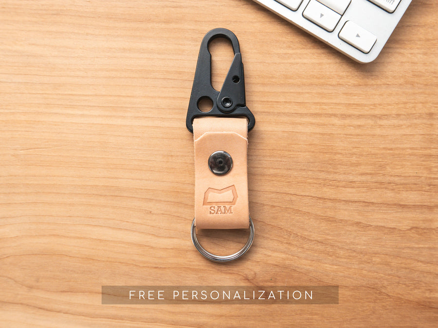 LIMITED RUN - The Malcolm Keychain in Cinnamon Wickett and Craig